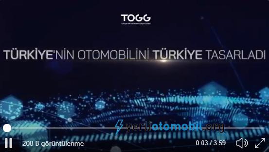 Yerli Otomobil TOGG Twitter sayfasında yeni video paylaşıldı