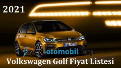 2021 Volkswagen Golf Fiyat Listesi