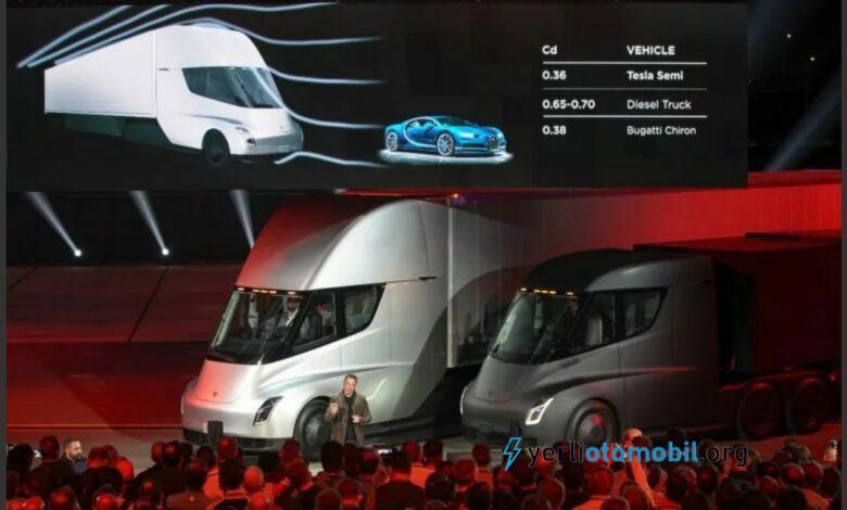 Tesla elektrikli kamyon Semi için menzil duyurdu!