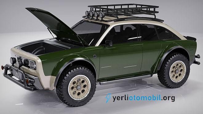 Arazi tipi elektrikli otomobil Alpha JAX CUV