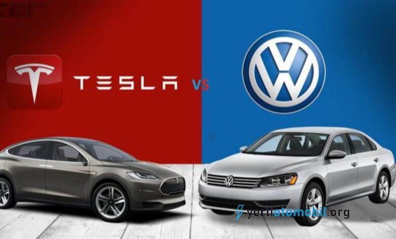 Tesla ve Volkswagen arasındaki rekabet büyüyor