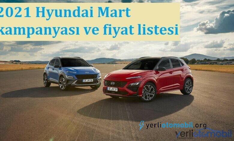 2021 Hyundai Mart kampanyası ve fiyat listesi