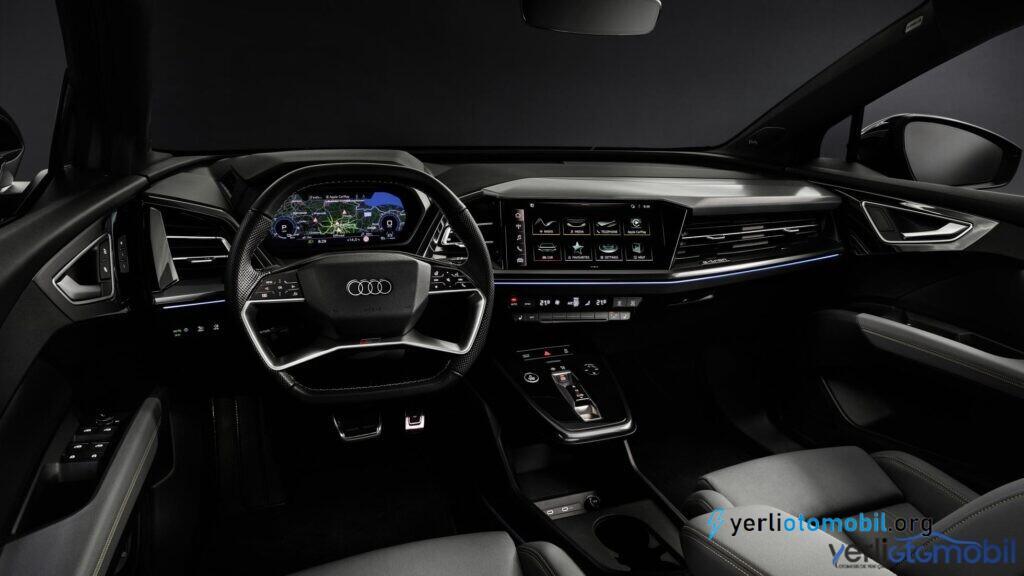 Yeni Audi Q4 e-tron SUV'un içine bakın