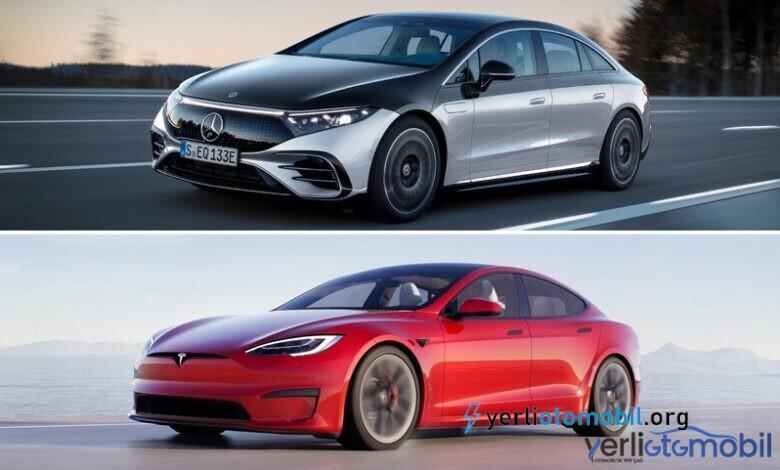 2022 Mercedes EQS ve Tesla Model S Özellik Karşılaştırma
