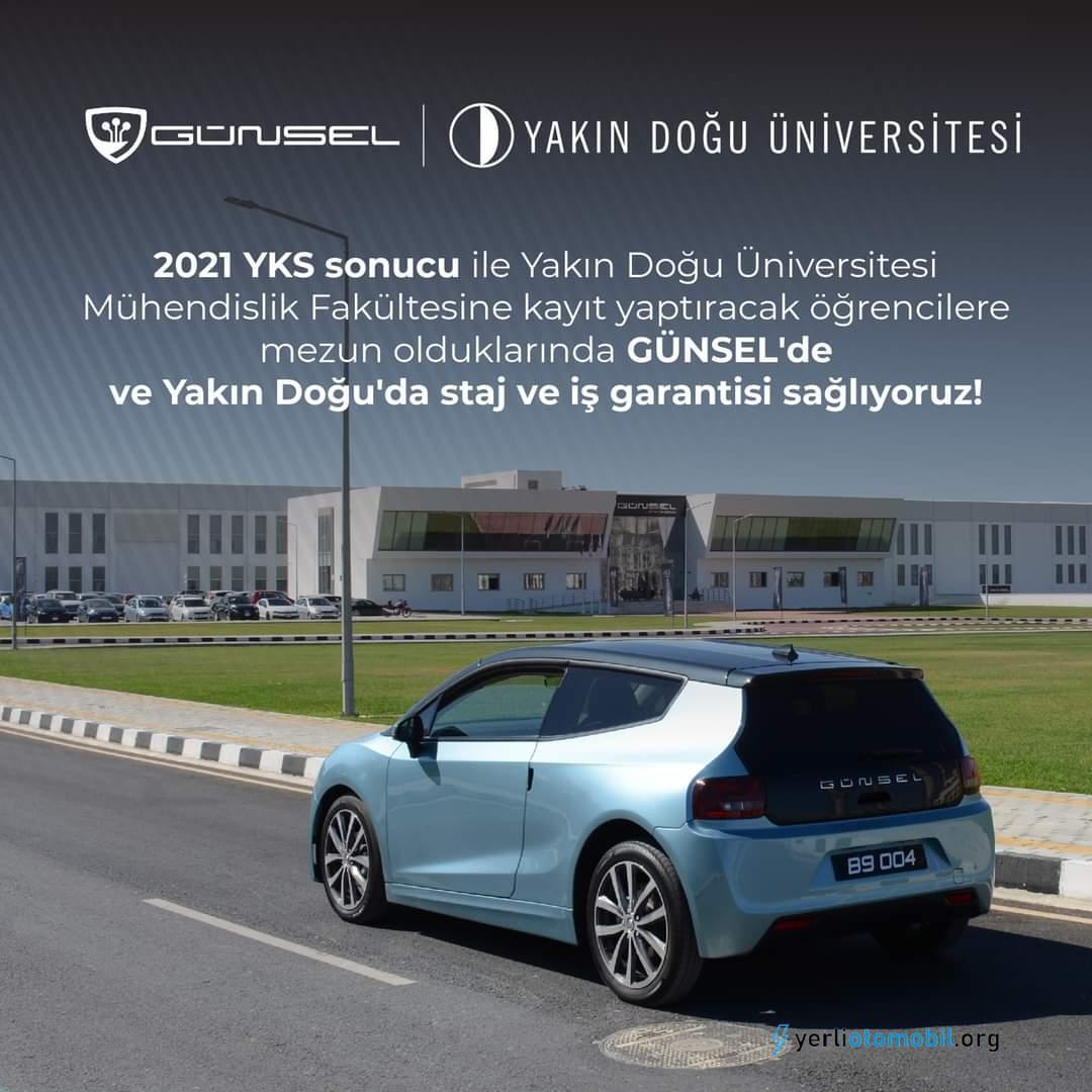 Kıbrıs'ın otomobili Günsel den staj ve iş imkanı