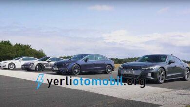 Mercedes EQS, Taycan, Model S ve E-Tron GT