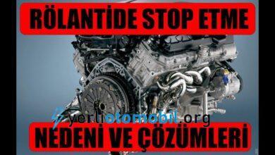 Rölantide Motor Neden Stop Eder?
